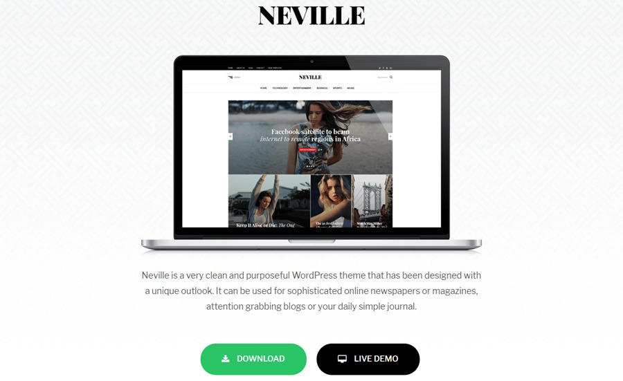 Neville WordPress theme