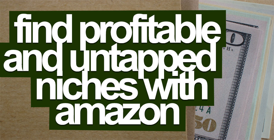 Find Profitable And Untapped Niches With Amazon