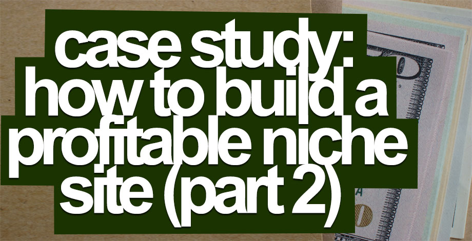 Case Study: How to Build A Profitable Niche Website (Part 2)