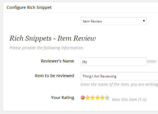 Creating A Review Rich Snippet