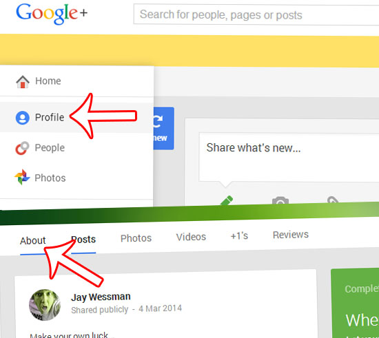 Google+ About Page